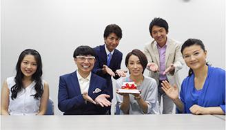 お誕生日を迎えた大瀧選手、出演者の皆さんでお祝い !