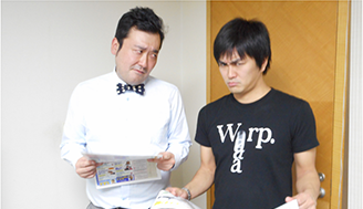平成ノブシコブシの徳井さんとグランジの大さん、お互いの手の内を探り合いながらレースをチェック!