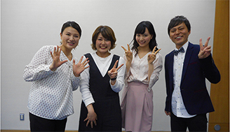 (4月23日放送分)ゲストが盛り沢山!? スタジオに向井田真紀選手が遊びに来てくれてました!
